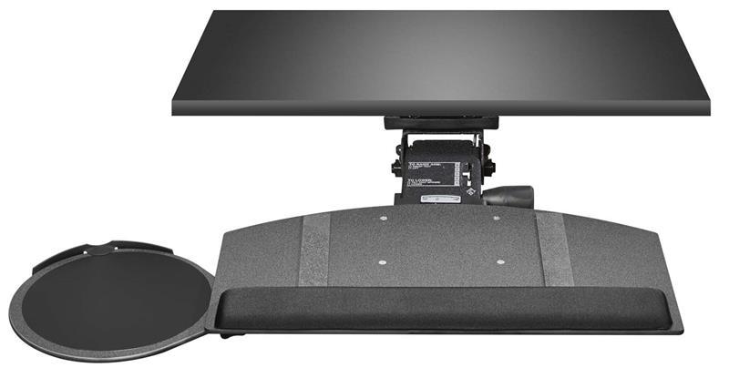 Leverless Underdesk Curved Keyboard Tray