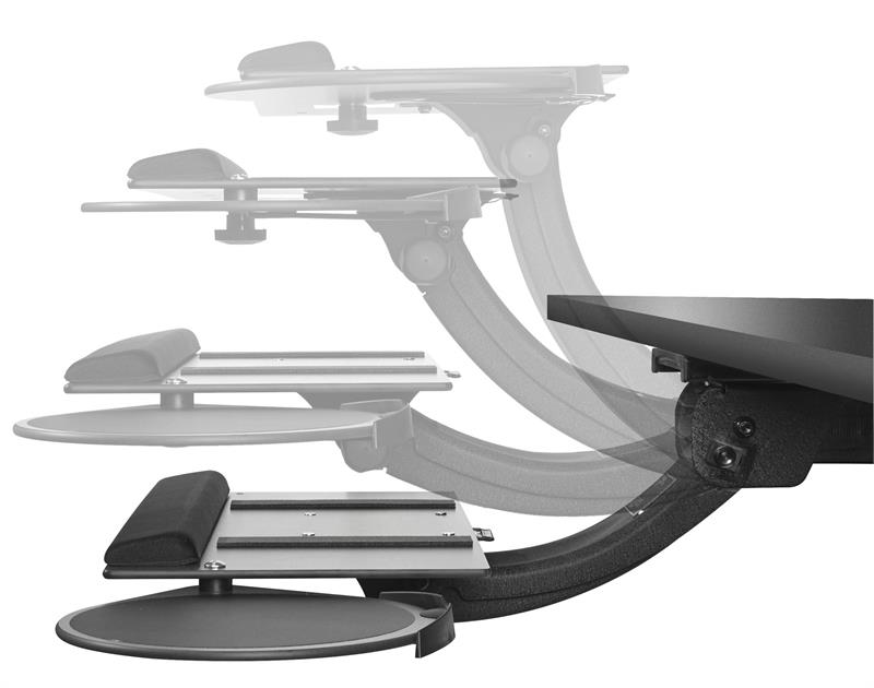 Sit Stand Leverless Keyboard Tray
